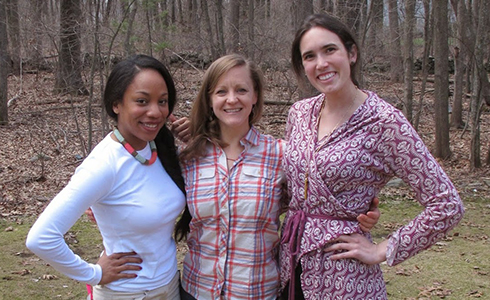 2015 MGH Institute Schweitzer scholars, l-r Jennifer Lettsome, Kristin M. Smith, and Hayley Younkin