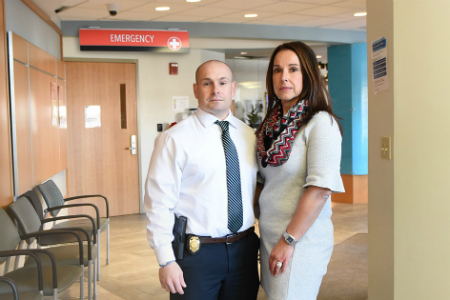 Derek Belong (left) and Michele Rodrigues-Belong are working to reduce human trafficking in New Bedford, Mass.