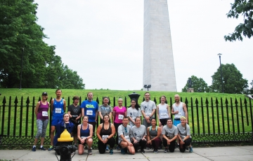 IHP runners pose for a group photo before the race.