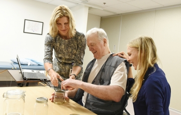 Research by Dr. Teresa Kimberley using vagus nerve stimulation research is helping stroke patients like Rick Doyle recover the use of their hands.