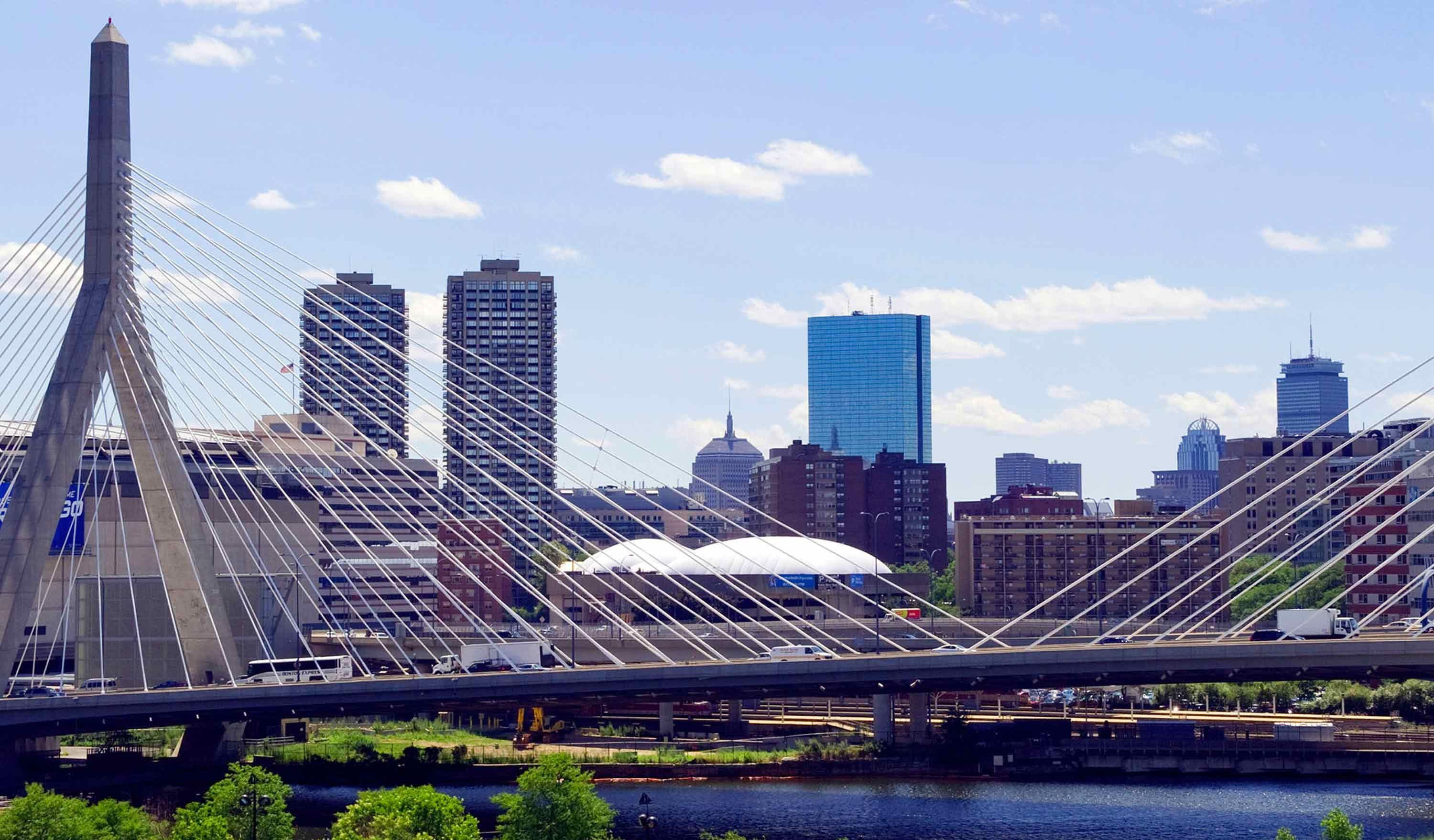 Photo of Zakim Bridge and Boston Skyline