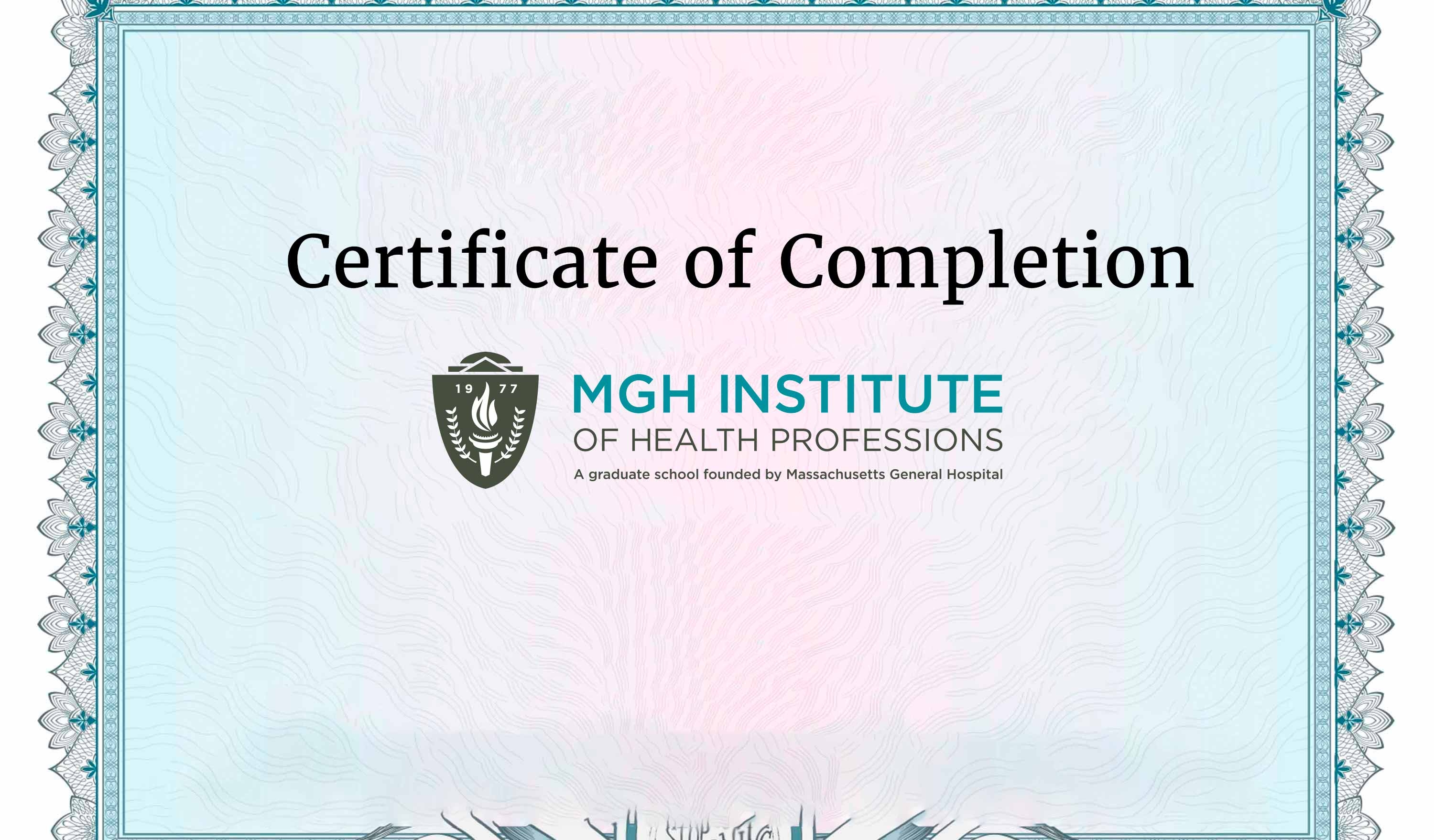 Certificate Programs Mgh Institute Of Health Professions