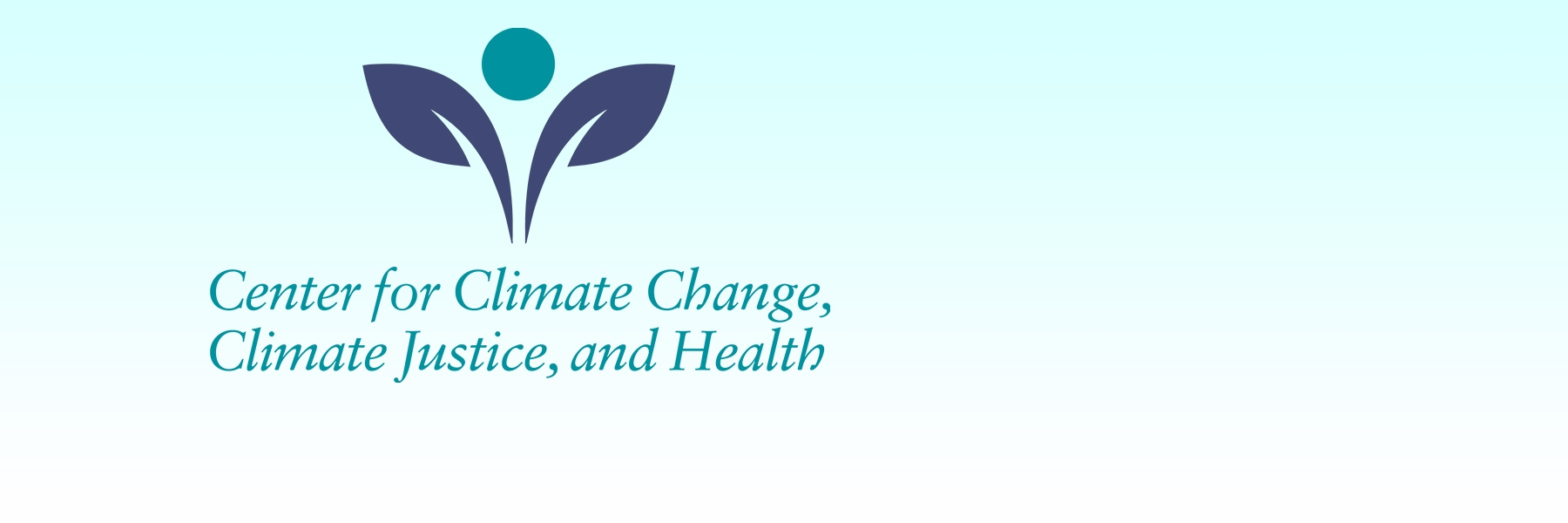 Icon is the logo of the Center for Climate Change, Climate Justice and Health