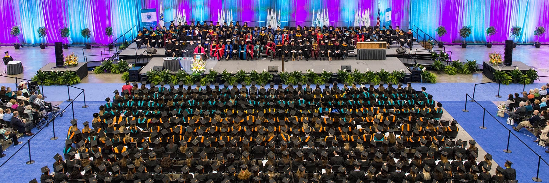 photo of large graduating class from above