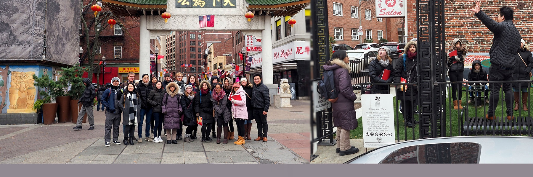 Chinatown walking tour group in action