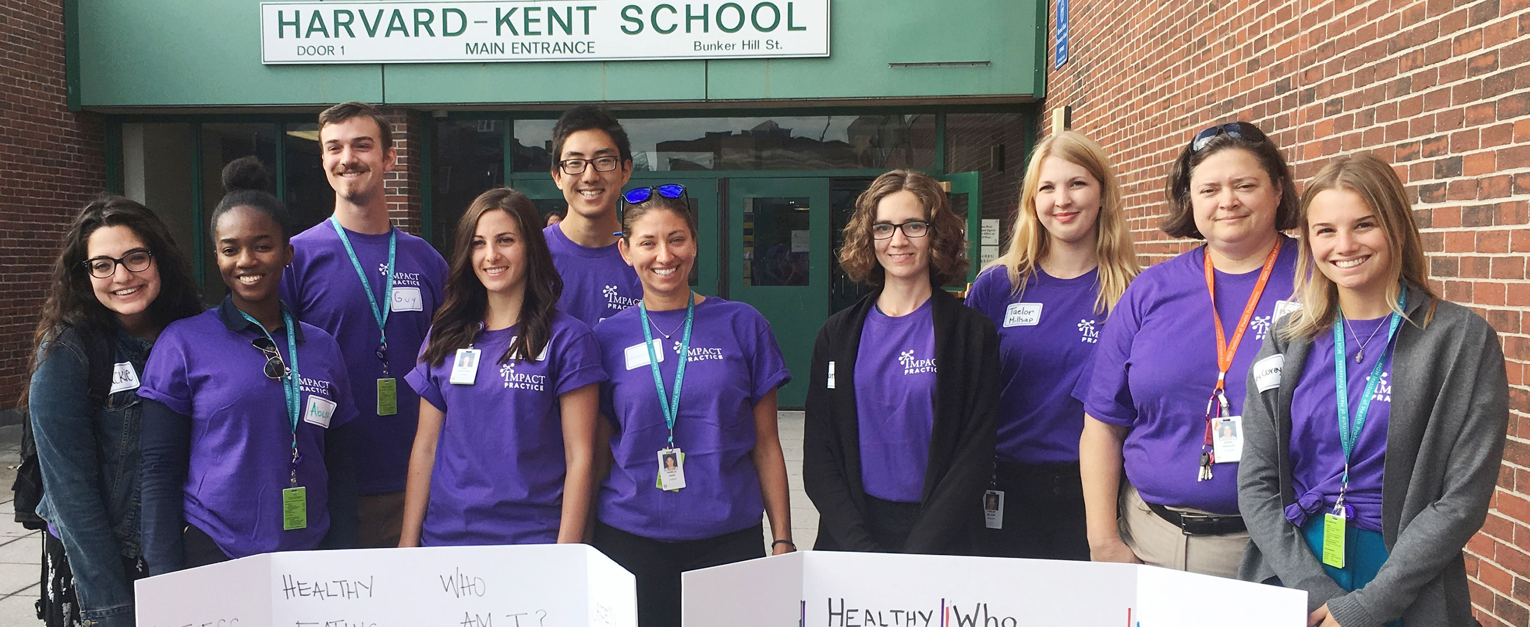Photo of students working at the Harvard-Kent School on Community IMPACT Day