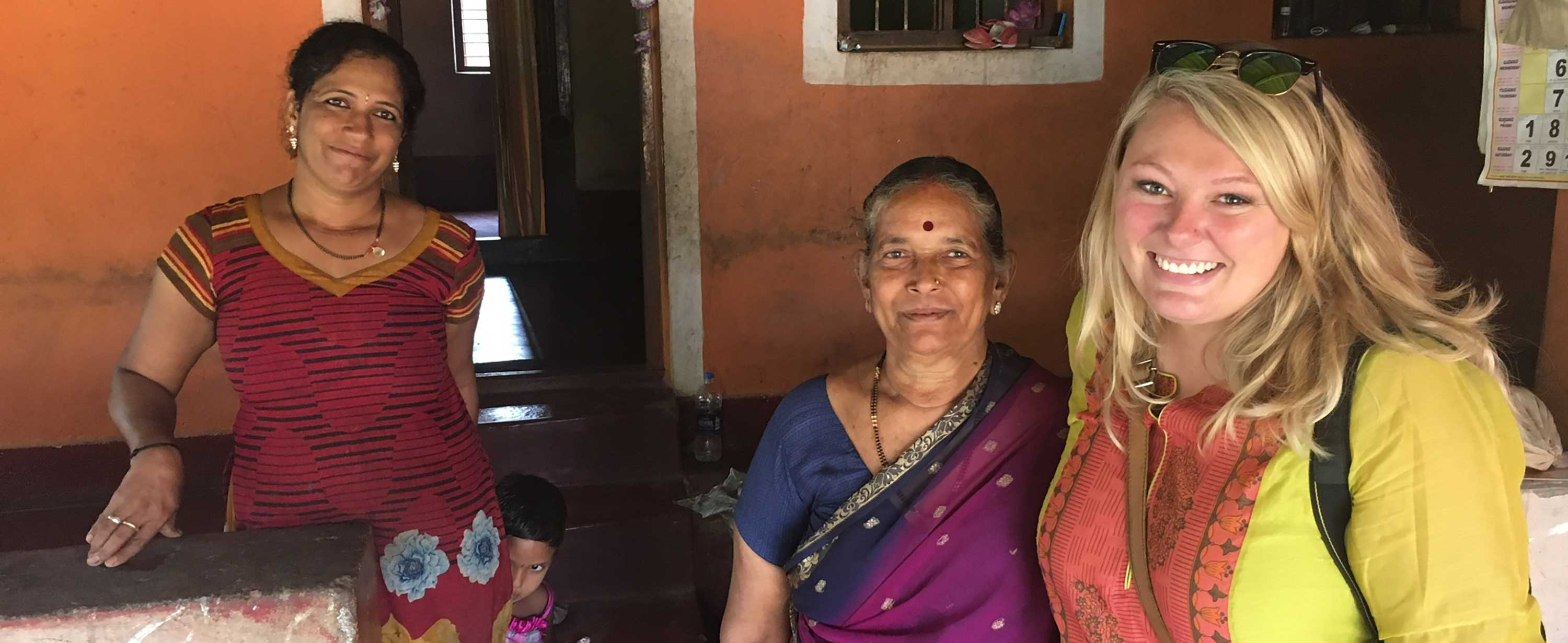 Photo of MGH Institute student in Manipal, India
