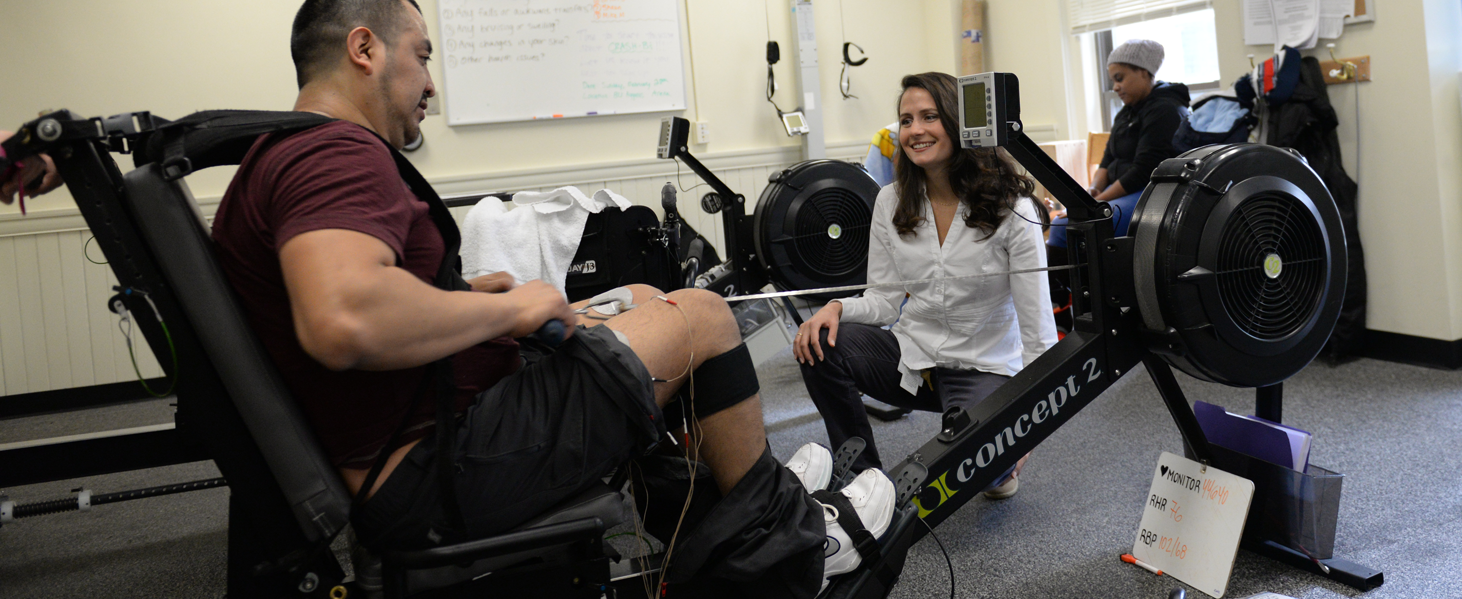 Research Rehabilitation Hannah Mercer with client