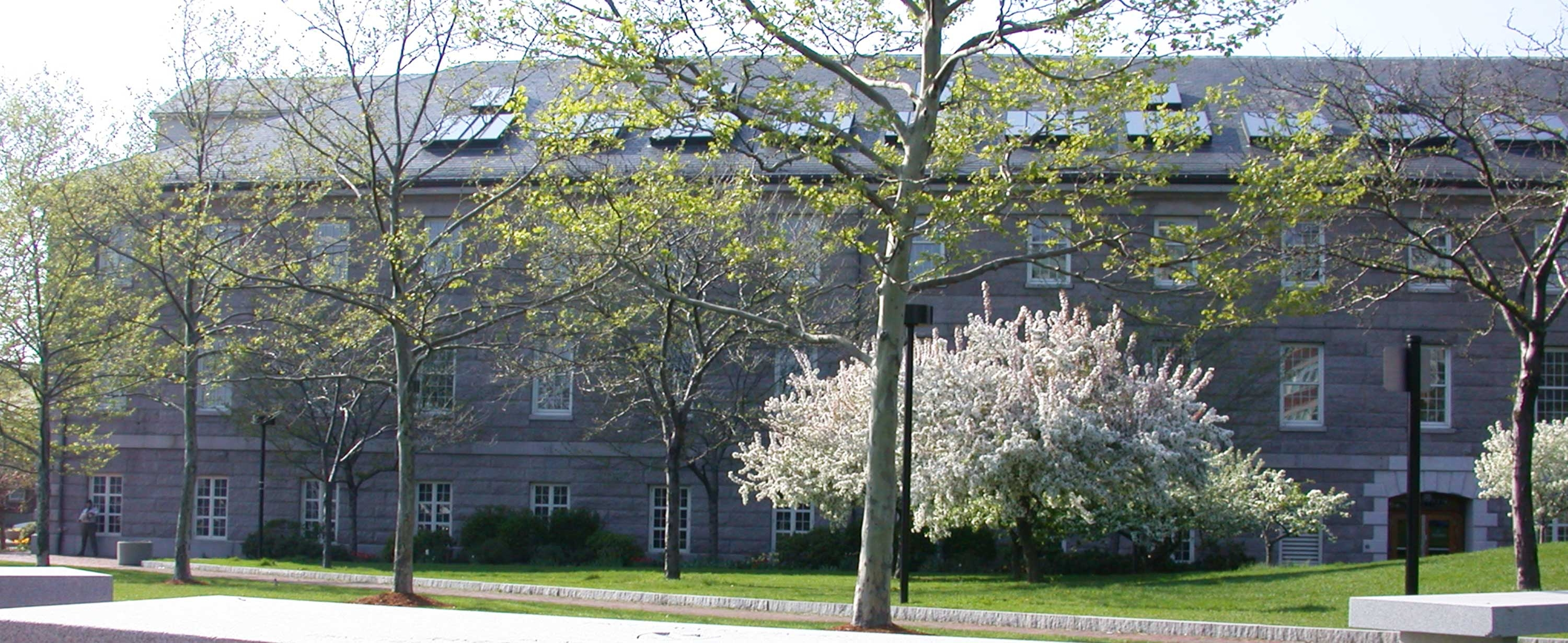 Shouse building in springtime