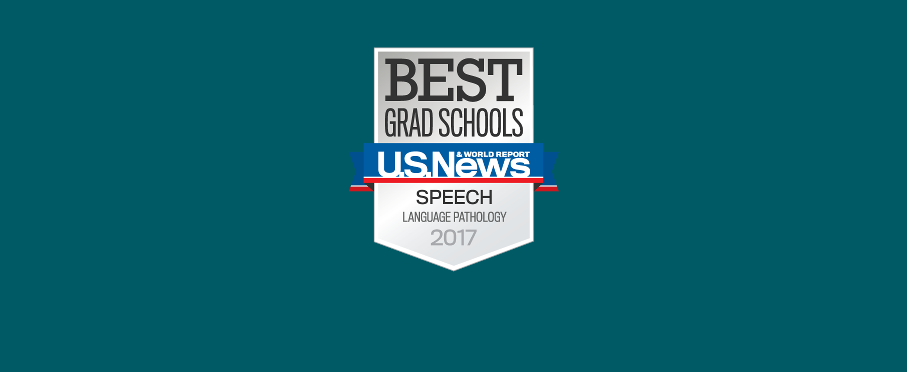 U.S. News & World Report logo for Best Grad School Speech-Language Pathology 2017