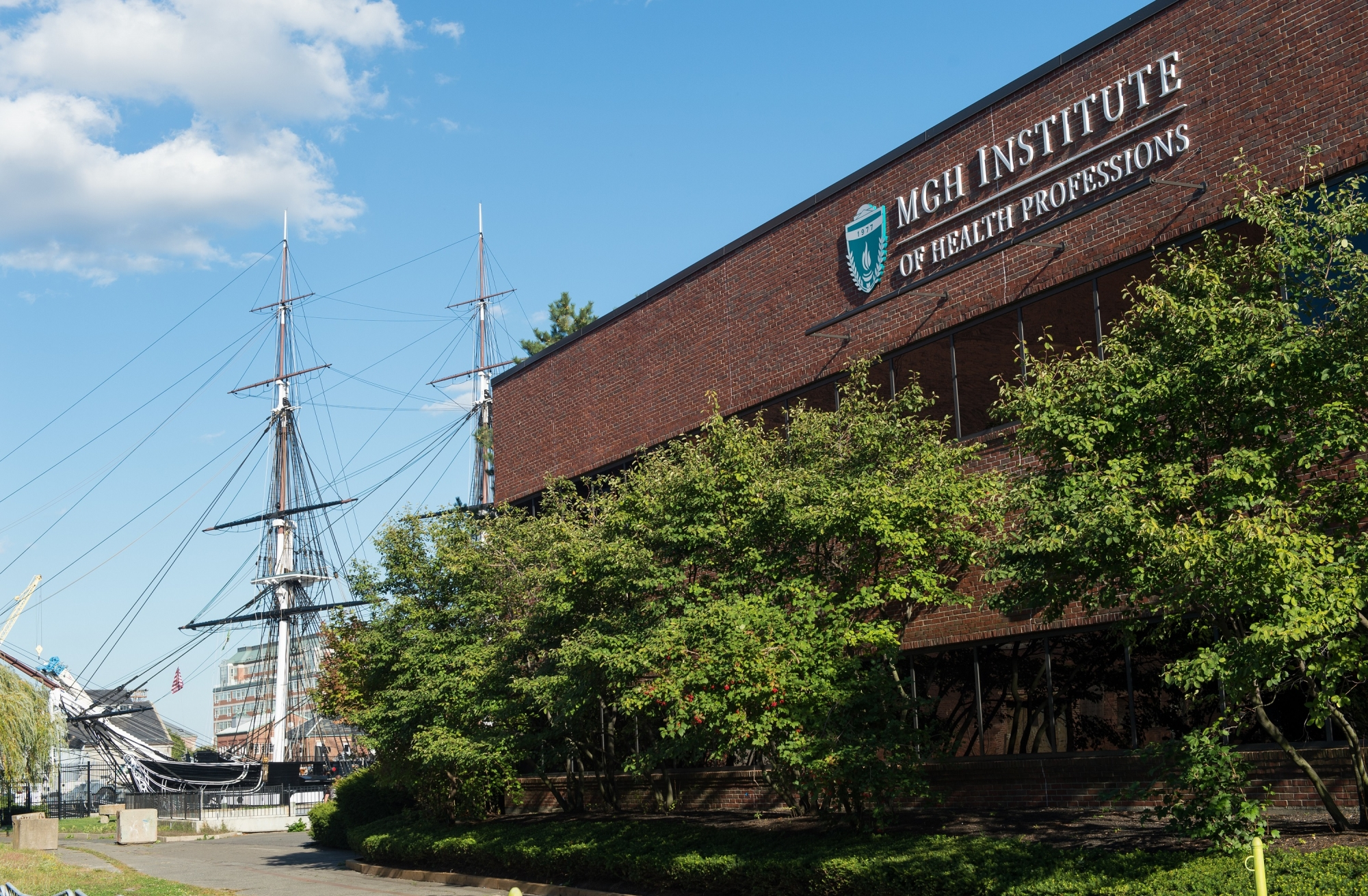 Photo of Impact Center at 2CW and USS Constitution ship