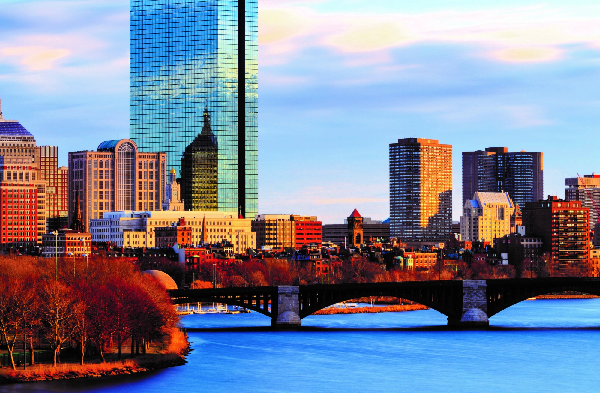 Image of charles river and boston