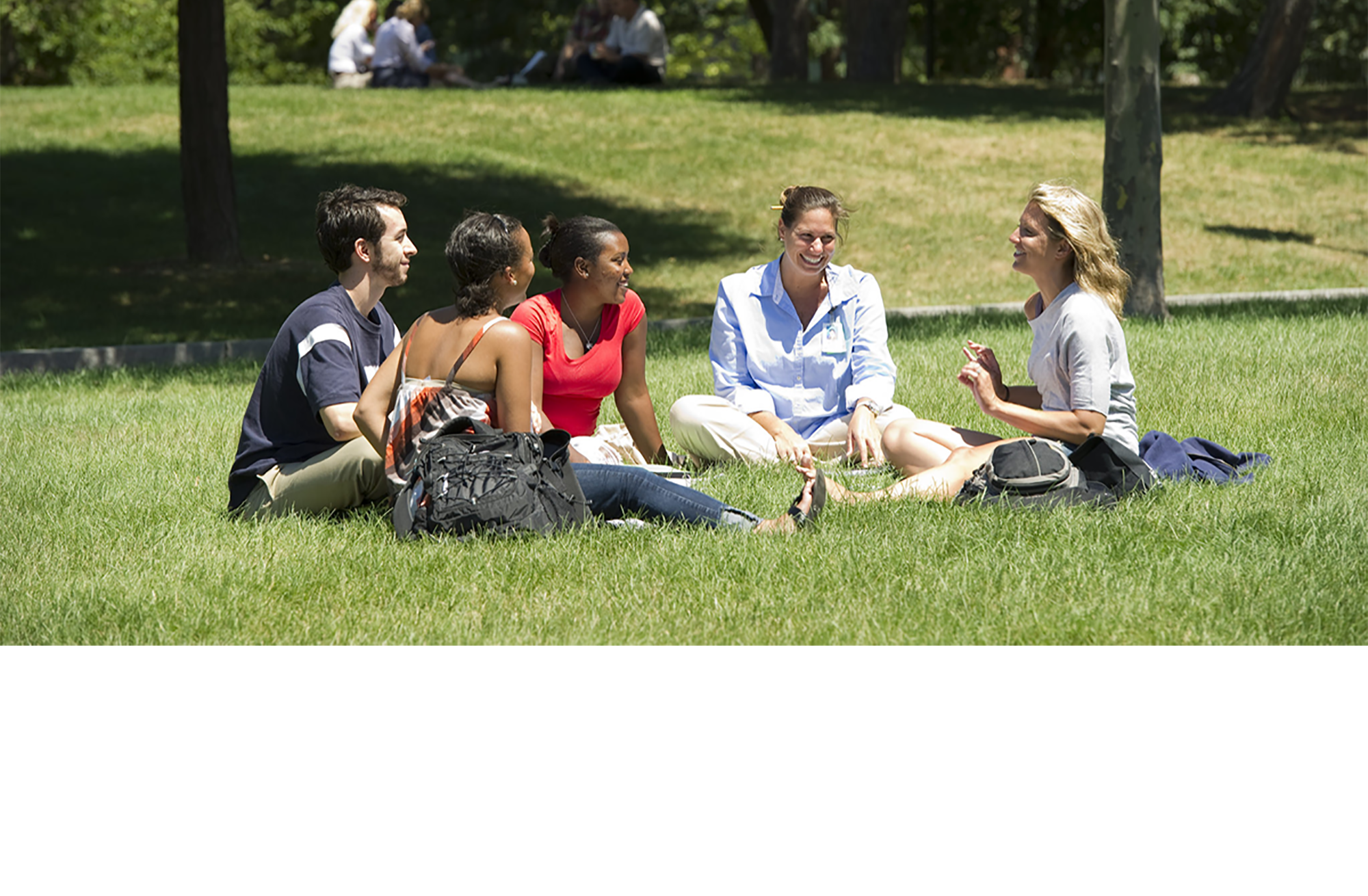 MGH Institute students on the lawn