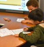 Students took part in a Climate-Change-themed coloring exercise.