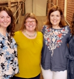 (L-R) Dr. Tiffany Hogan, Julie Wolter (University of Montana), Suzanne Adlof (University of South Carolina), and Jessie Ricketss (Royal Holloway, University of London). Missing are Annie Fox (MGH Institute) and Yaacov Petscher (Florida State University).