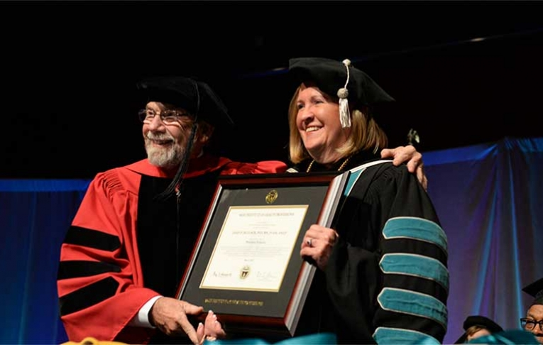 Photo of Dr. Thibault and President Bellack