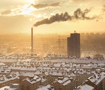 Photo of smokestack spewing pollution