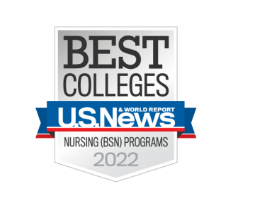US News 2021 Best Colleges ABSN badge