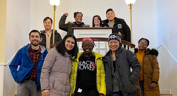group participates in office of diversity, equity and inclusion event at African american museum