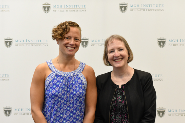 (l-r) Jenna Muri-Rosenthal and Chair Marjorie Nicholas