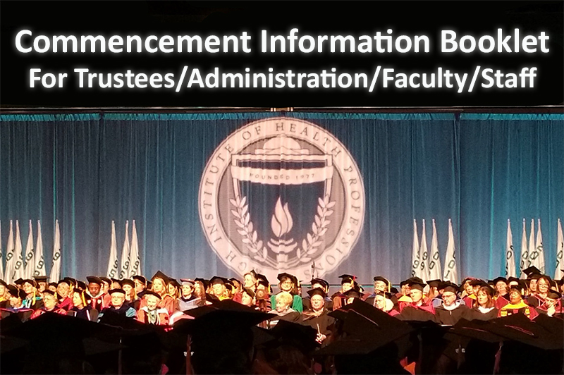 Commencement Information Booklet - Trustees/Admin/Faculty/Staff