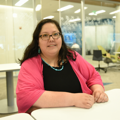 """Evangeline Begay moved from New Mexico, a """"majority minority"""" state, to Boston, where she noticed Native American culture was not as prevalent."""