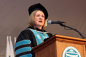 President Janis P. Bellack speaking at Commencement