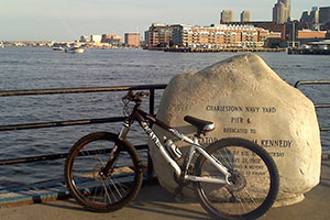 Photo of bike on Pier 4 in the Navy Yard