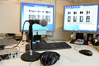 Image of microphone used in research