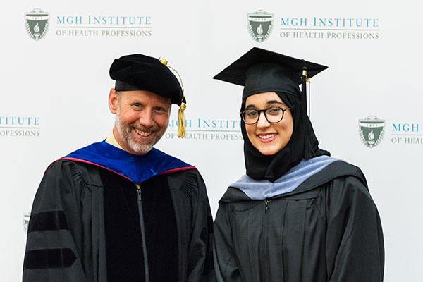 Chair Gregory Lof and Reem Khodr Mohamad '17