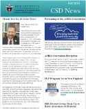 The CSD newsletter most recent issue