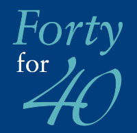 Forty for 40 logo