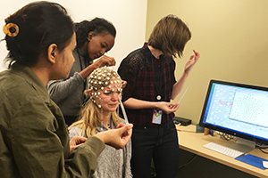 2017 summer undergraduate interns practice EEG net application