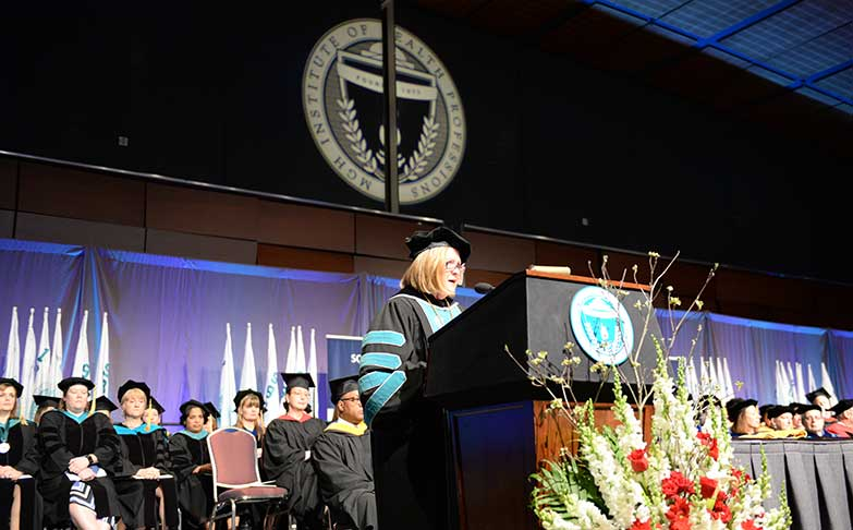 Photo of Dr. Jan Bellack at 2017 Commencement