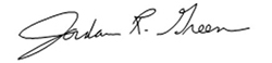 Photo of Jordan Green's signature