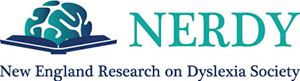 Logo for the New England Research on Dyslexia Society (NERDY)