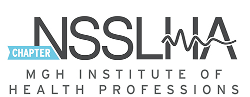 Logo for the National Student Speech Hearing Association (NSSLHA)
