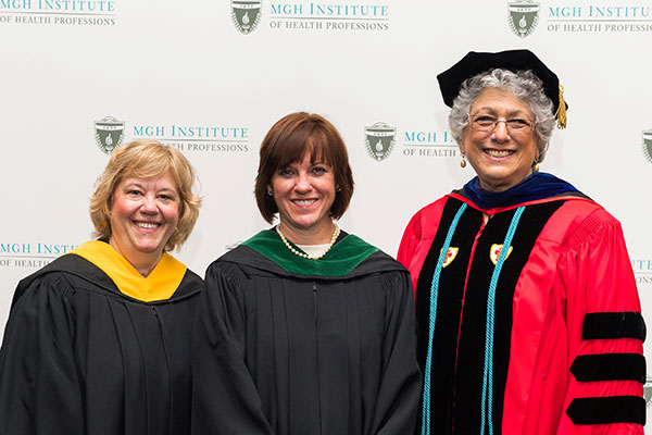 Katherine Rufo (c) with Chair Lisa Walker (l) and Dean Leslie Portney