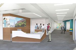 Clinical Care Center Reception area