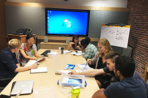 IHP graduate students teach our undergraduate interns about language and cognitive tests