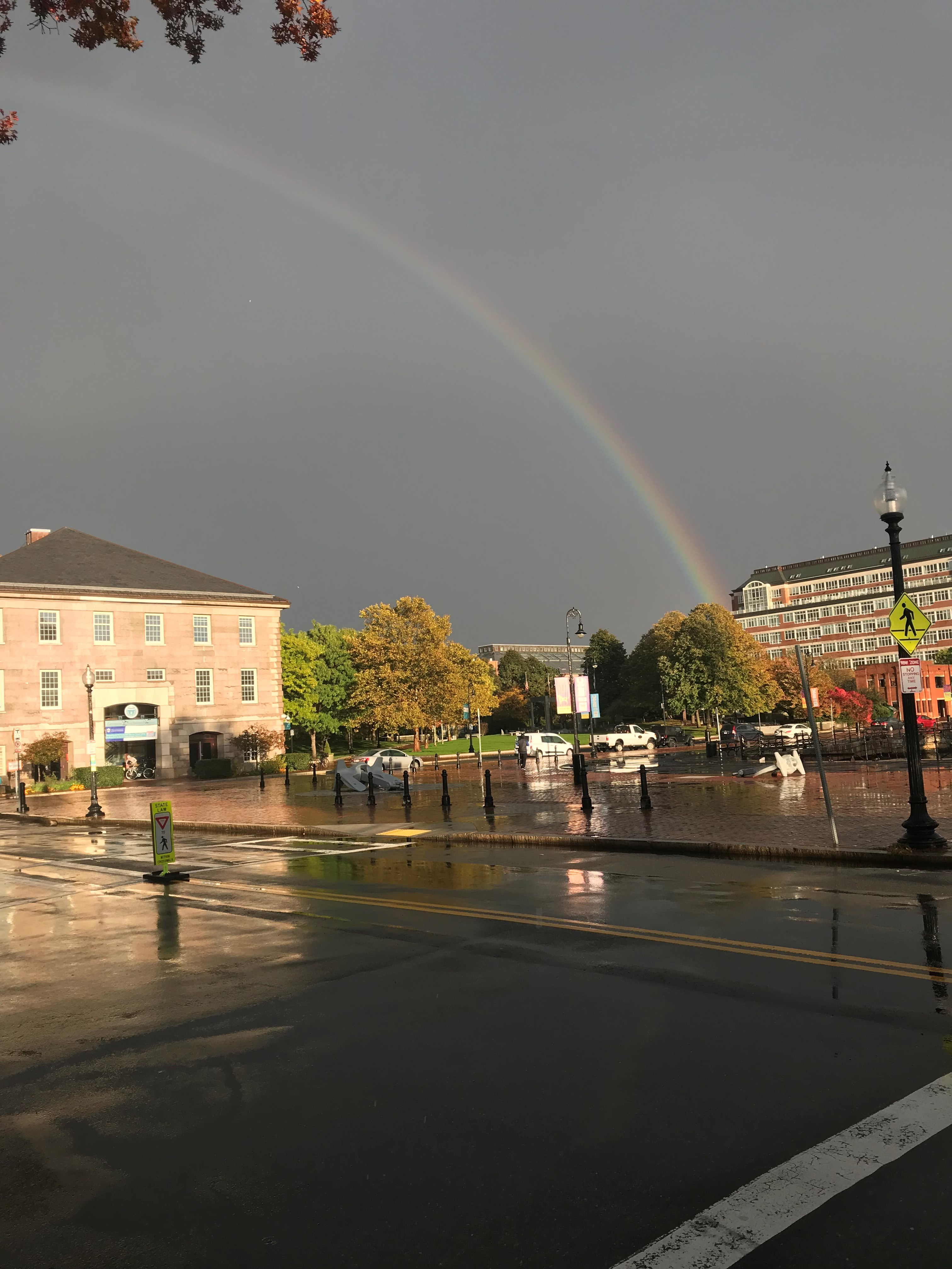 Rainbow over the Shouse Building