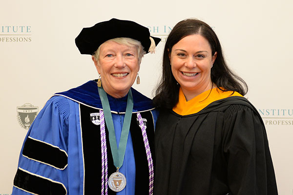Megan R. May (r) with Associate Dean for Academic Affairs and Program Innovation Linda Andrist