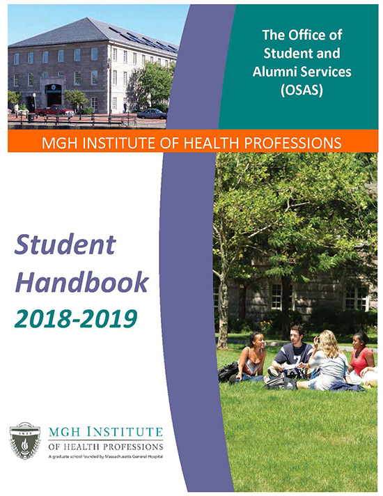 Image of the 2018-2019 Student Handbook cover