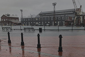 image of Charlestown harbor flooding