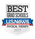 Logo for US News Best Grad Schools Physical Therapy 2017