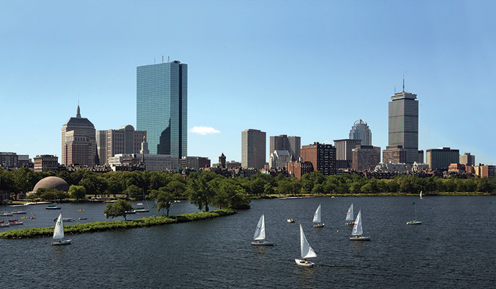 View of Boston from Longfellow Bridge