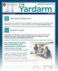 screenshot of yardarm masthead and small text to show example of the newsletter