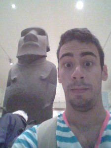 """SERIOUSLY USA GET IT TOGETHER."" -That Easter Island head behind me, probably"